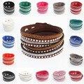 Мода браслет, кожаный браслет Европа и соединенные Штаты горный хрусталь браслет многослойные плетеный браслет бесплатные шипп