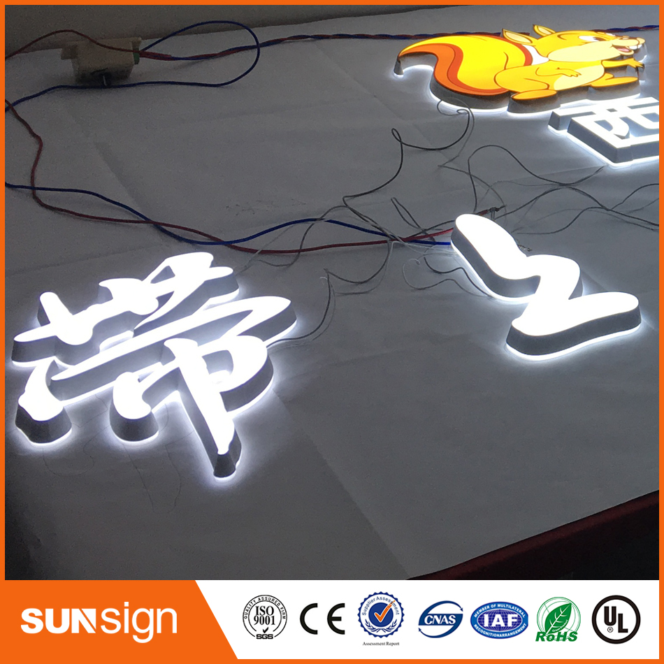 3D Lighting Acrylic Mini LED Channel Letter Sign