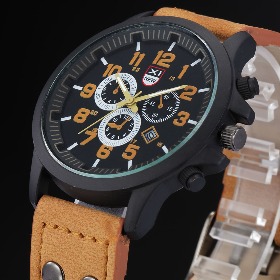2018 Heißer Verkauf Billig Uhren Männer Marke Xinew Lederband Original Kalender Quarz Armbanduhr Relogio Masculino Esportivo
