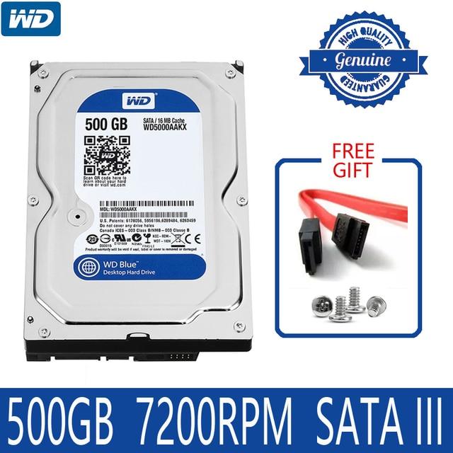 """WD MÀU XANH 500 GB Ổ Đĩa Cứng Nội Bộ Đĩa 3.5 """"7200 RPM 16 M Bộ Nhớ Cache SATA III 6 Gb/giây 500G HDD HD Ổ Cứng cho Máy Tính Để Bàn Máy Tính"""