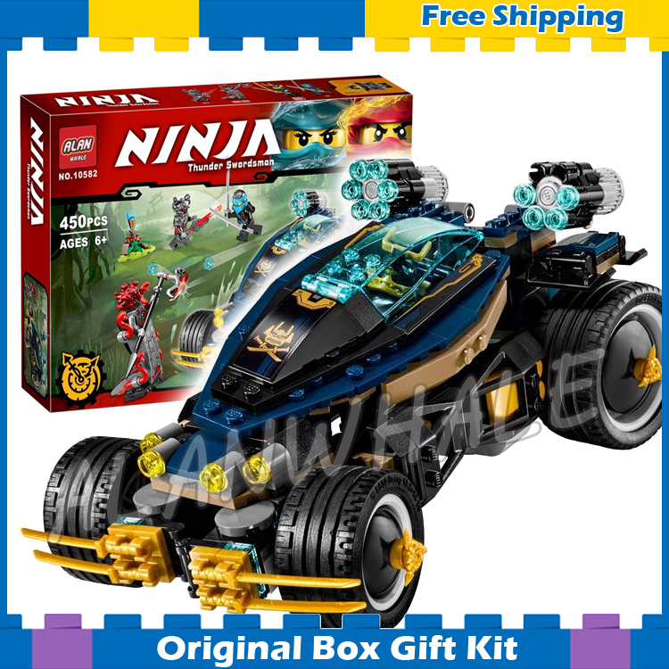 450pcs Ninja New 10582 Samurai VXL DIY Masters of Spinjitzu Model Building Blocks Bricks Kids Toys Sets Compatible With lego bpt kt vxl