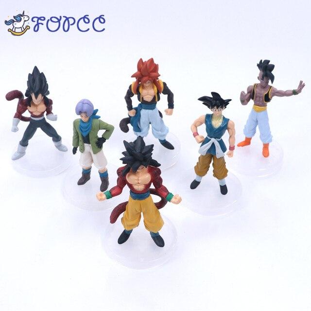 1 pcs Anime modelo de sete dragon ball Z super saiyan Guku Tranks homem Mágico 4 saiyan Goku Anime Meninos e meninas brinquedos presentes das Crianças
