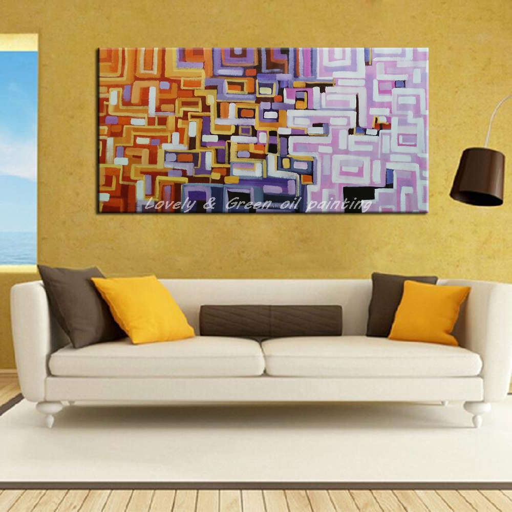 Hand Painted Decorative Posters Wall Art Canvas Oil Painting Modern ...