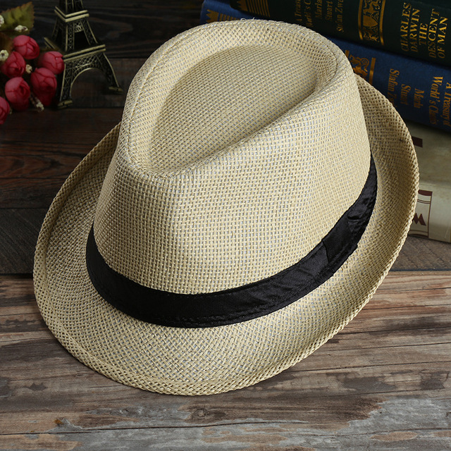 Panama Men Straw Hat Summer Hat men Beach Sunscreen Beach Hat Male Female  Foldable Straw hat Breathable Beach Cap be6b19b393b2