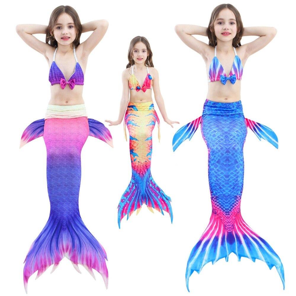 14 Stili Delle Ragazze Della Sirena Coda Con Flipper Cosplay Del Costume Da Bagno I Bambini Piccoli Principessa Sirena Coda Balneabile Bikini Vestito Costumi Da Bagno