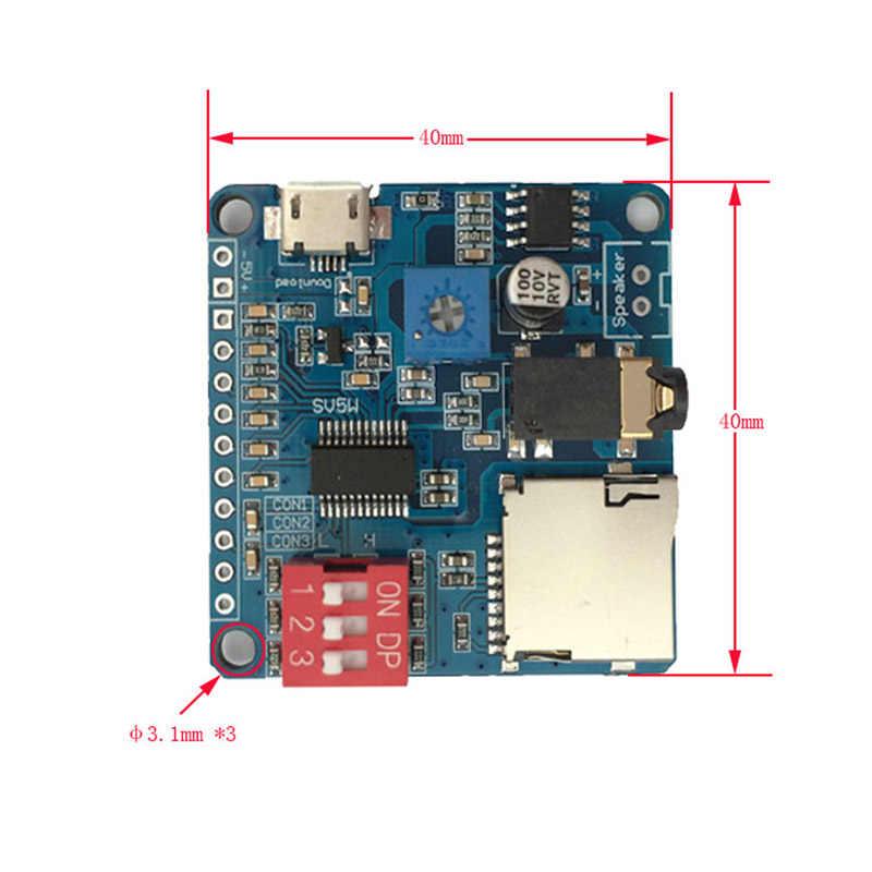 Carte récepteur Audio Bluetooth avec carte SD/TF Module de lecture vocale Module de musique MP3 stéréo sans fil