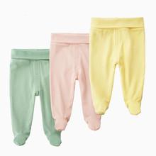Nowonarodzone spodnie dla niemowląt Unisex jednolite luźne ubranka dla niemowląt jesienne spodnie na co dzień HaremPants bawełniane ubrania dla niemowląt w pasie tanie tanio OrangeMom Stałe Dla dzieci 1-15 Pełnej długości COTTON Pasuje prawda na wymiar weź swój normalny rozmiar Suknem Elastyczny pas