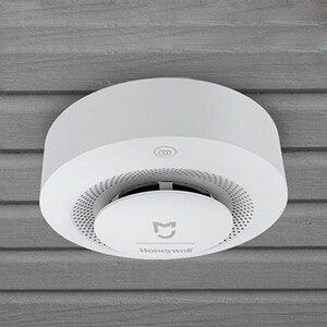 Image 4 - Xiao mi mi jia honeywell fumo Fuoco Sensore rilevatore di Allarme acustico Di Visual sensore Di Fumo a Distanza Mi Casa intelligente app Di Controllo