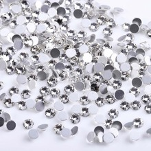 SS3-SS30 Mix Size Crystal Clear Non Hotfix Flatback Manicure Rhinestones Nail For Nails 3D Art Decorations Gems