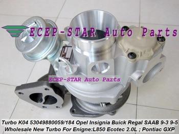 Бесплатная доставка K04 53049880200 53049700200 Turbo для Opel GT L850 Insignia A20NHT Pontiac Solstice GXP для Buick Regal Verano 2.0L-E