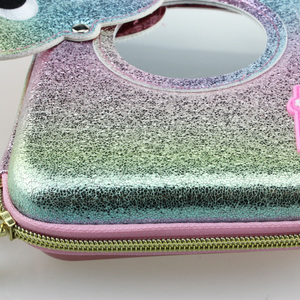 Image 5 - new kawaii Lovely pencil case for girls school pen box mirror pencil bag pen container eva material ribbon sequin stationery bag