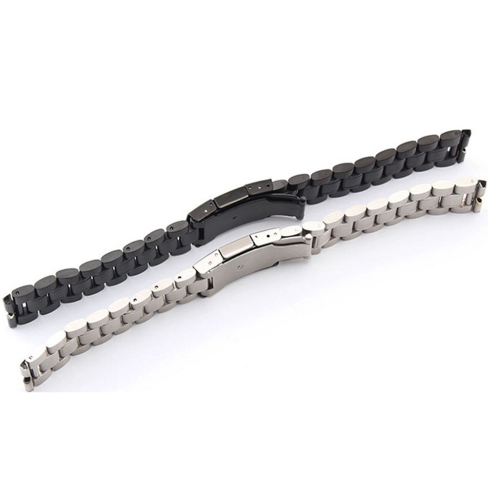 Free Shipping 22mm Stainless Steel Watch Band For Motorola Moto 360 Smart Watch Tools Black Silver in Watchbands from Watches
