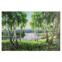 595mm X 395 Mm Frameless Europe Vintage DIY Oil Painting On Canvas Handpainted Oil Painting Plant