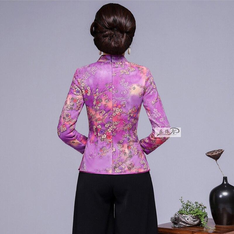 Occasionnel Blouses À La The 4xl Automne Sexy Chemises Nouveau Lâche Mandarin Picture 2018 Chinois Show as As Tops Taille Femelle Dames Femmes Plus Col Show wOP0nk