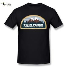 100% Cotton Male Twin Peaks Tee Shirt Round Neck Brand Homme Shirts