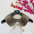 Бренд Besty Мужская Природный Настоящее Кролик Меховой Воротник Человека женщин вообще все-матч натуральная кожа меховой воротник шарфы
