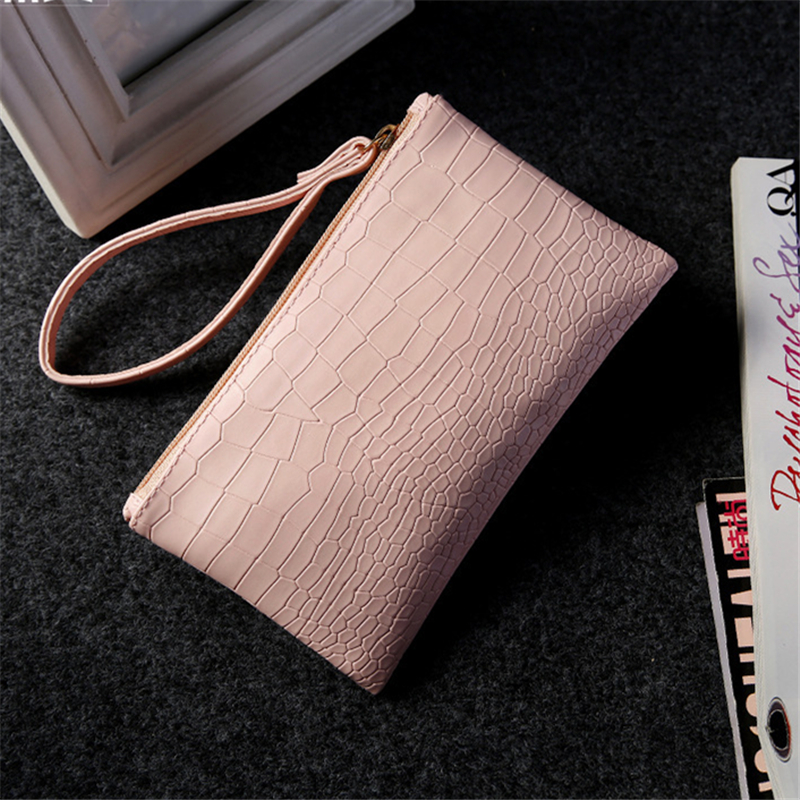 2016 New summer clutch PU tote women coin purse handbags ladies envelope mujeres Mobile phone bag crocodile grain female bags ! animob a08 119 women s cat pattern pu coin purse mobile phone bag cosmetic bag deep pink