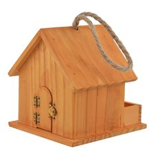 Bird House Wood Bird House Nest Parrot Breeding Decorative Cages Hamster Nest Home Cute Pet Accessories Wood Parrot Bird Cages(China)
