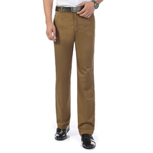 Man Business Casual Pant Khaki Navy Blue Dark Gray Cotton Trousers Male Leisure Straight Bottoms For Men Plus Size Pants Spring new mens casual business pant stretch elastic fabric slim straight pant black blue khaki men pants trousers male big size 28 38