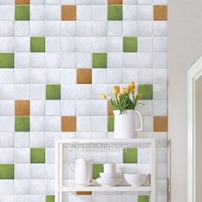 New Kitchen Decoration Films Mosaic Stickers Bathroom Waterproof Wallpaper Tile Oil Paste Self Adhesive