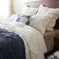 Hecho a mano puro del edredón de algodón cubierta de cama de cama de punto de tres conjuntos de aire acondicionado para estar fresco en el verano de encaje