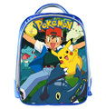New Cartoon 13 Inch Blue Backpack Pokemon School Bags For Little Cute Pikachu Kids Bag Child School Backpack For Baby