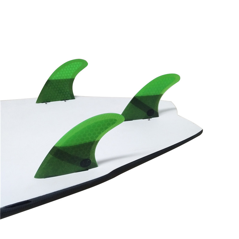 FCS G5 Quilhas Fins FCS Fins Surfboard Fin Honeycomb Fibreglass Fins Green color in Surfing from Sports Entertainment
