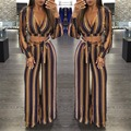 New Celeb Slim Bodycon Jumpsuit Women V Neck Autumn Sexy Jumpsuit Rompers Women Overalls M L XL A8060