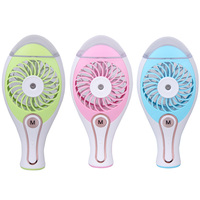 Mini Handheld USB Charging Spray Humidifier Portable Air Conditioning Fan For Convenient Office Home Car Use