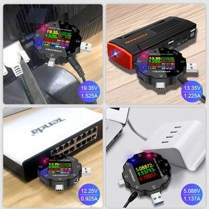 Image 3 - UD18 Voor App Usb 3.0 Type C Pd DC5.5 5521 Voltmeter Ampèremeter Voltage Current Meter Batterij Meten Kabel weerstand Tester