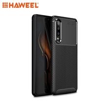 HAWEEL Phone Case  for Huawei P30 Carbon Fiber Texture Shockproof TPU Protective Shell