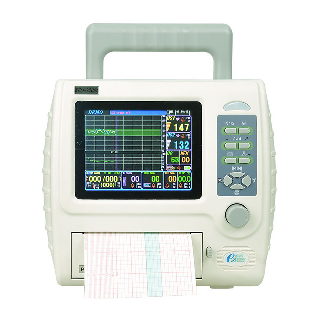 Fetal maternal monito with software connect PC transmit data CTG machine fetal doppler ultrasound fetal monitor BFM-700M