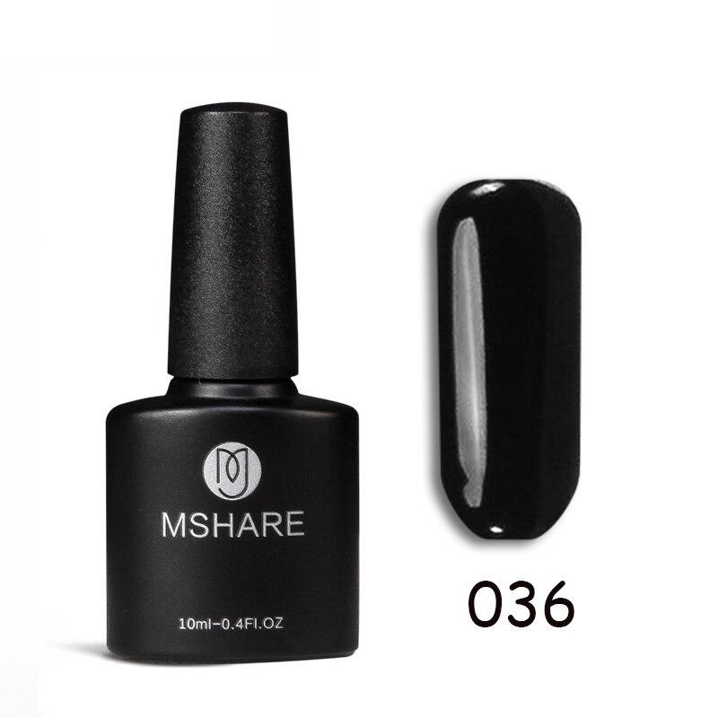 MSHARE 10ml Qara UV Dırnaq Geli Polyak Markası Qalıcı Qalıcı - Dırnaq sənəti - Fotoqrafiya 1