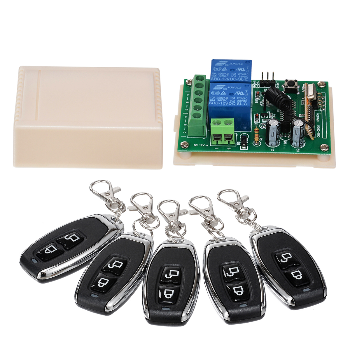 Stable 2 CH Remote Control Switch Relay Normally Open Closed Wireless Transmitter + Receiver For Garage Door Window Mayitr