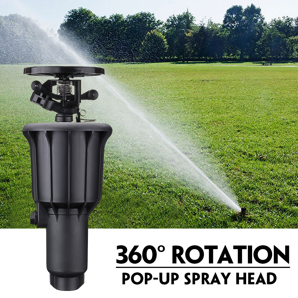 1/2 Inch 3/4 Inch Integrated Sprinkler High Water Pressure 360 Degrees Rotating Watering Pop-up Spray Head Sprinkler