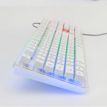 GX-80 104 Keys Wired Rainbow LED Backlit Ergonomic illuminated Gaming Keyboard Usb Multimedia Gamer Keysboard Laptop Computer