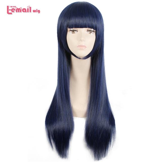 L e mail perücke Sora keine Methode Shione Togawa Cosplay Perücken Lange Blau Schwarz Gemischte Farbe Cosplay Perücke Hitze Beständig synthetische Haar