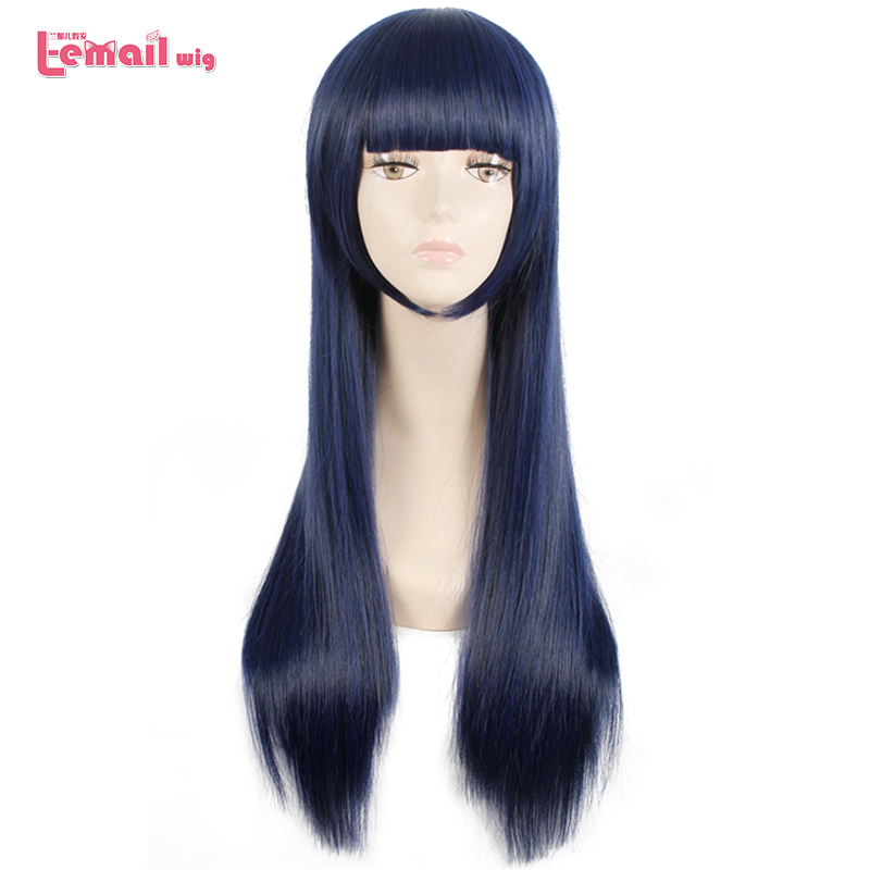 L-email Wig Sora No Method Shione Togawa Cosplay Wigs  Long Blue Black Mixed Color Cosplay Wig Heat Resistant Synthetic Hair