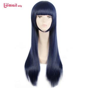 Image 1 - L mail parrucca Sora no Metodo di Shione Togawa Parrucche di Cosplay Lungo Blu Nero Colore Misto Cosplay Parrucca Resistente Al Calore capelli sintetici
