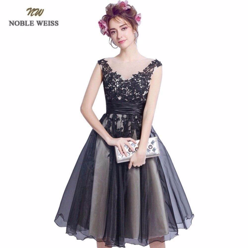 NOBLE WEISS Short Prom Dresses 2019 Appliques Vestido De Formatura Knee-Length Back A-Line Party Dress Custom Size