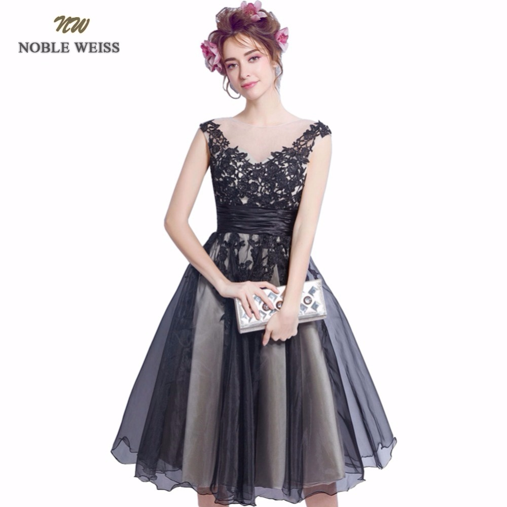 NOBLE WEISS Short   Prom     Dresses   2019 Appliques Vestido De Formatura Knee-Length Back A-Line Party   Dress   Custom Size