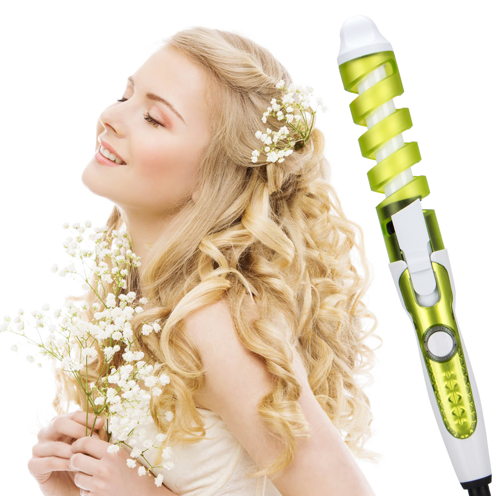 SESHE Professional Portable Hair Salon Spiral Curl Styler Ceramic Perfect Curling Iron Hair Curler Waver Electric Culring Wand