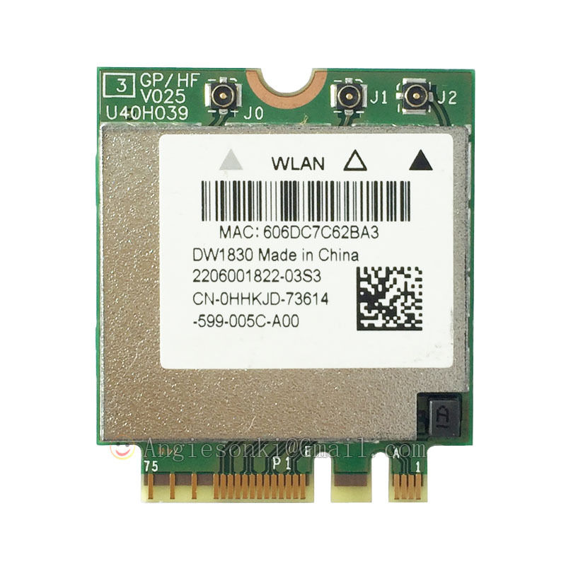 2.4/5GHz 1300Mpbs Wireless 1830 DW1830 A/B/G/N/AC WLAN+bluetooth BT4.1 NGFF Card BCM943602BAED GKCG2 For Dell XPS 15 9550
