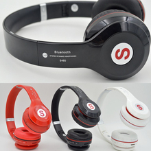 New S460 Wireless Stereo Bluetooth Headphone Headset Headband Over Ear Mic Folding Portable TF Card Mp3 Player Base LCD