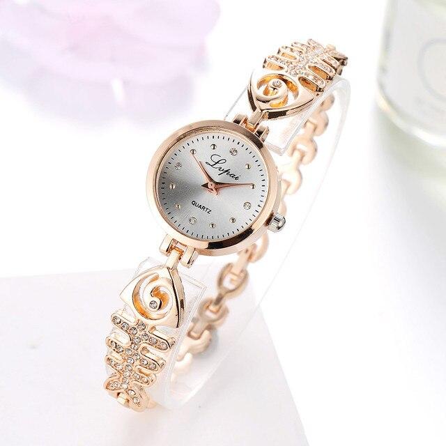 Luxury Brand Women Watches Quartz Ladies Stainless Steel Bracelet Watch Dress Cl