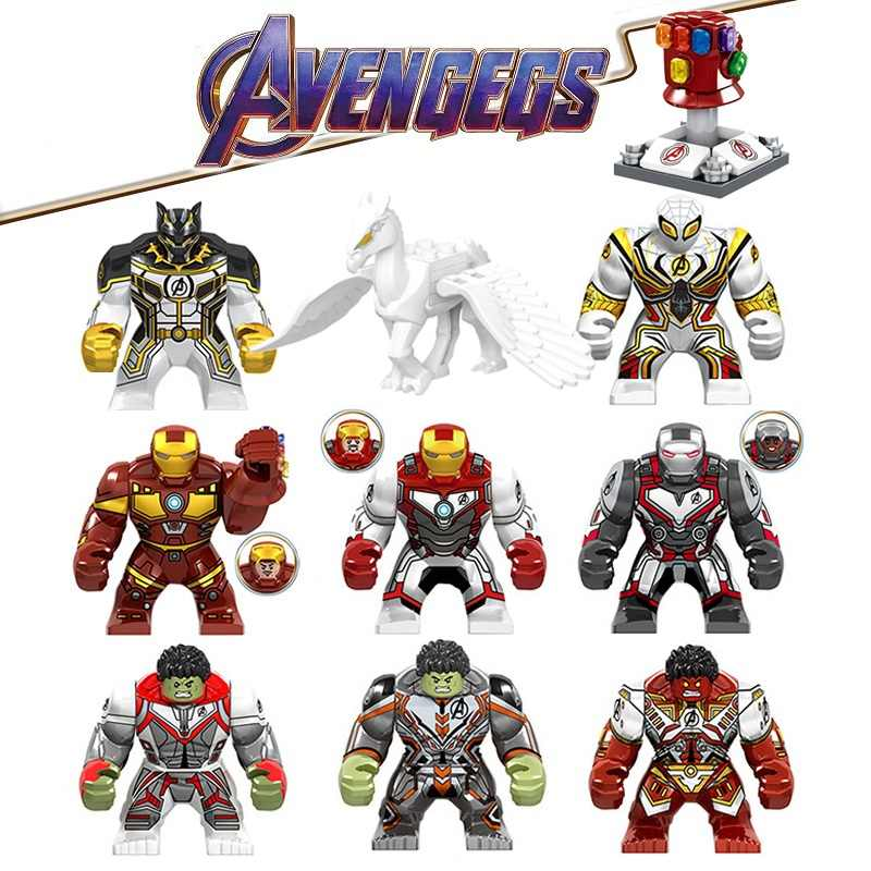 Avengers 4 Endgame Thanos Infinity Gauntlet Iron Man SpiderMan Legoed Marvel Building Blocks Action Figures Children Gift Toys