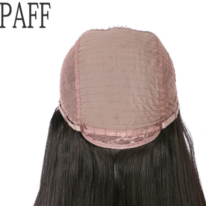 PAFF 4*4 Silk Top Lace Front Human Hair Wigs Free Part Body Wave Pre Plucked Silk Base Brazilian Remy Hair Wigs 150 180 Density