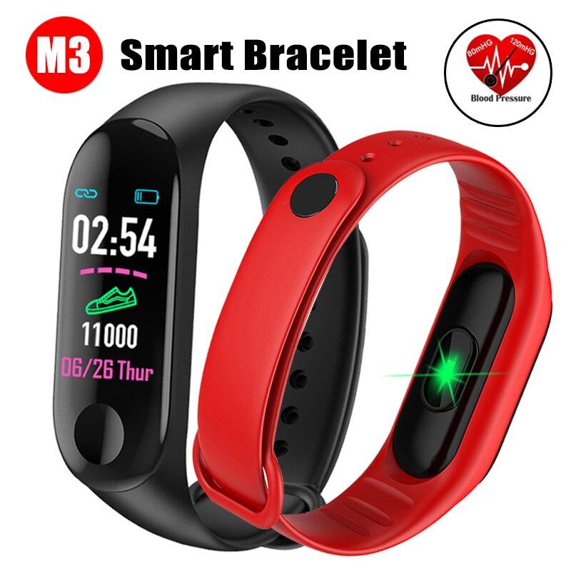 M3 bande intelligente Sport Bracelet pression artérielle et moniteur de fréquence cardiaque bande intelligente coloré écran tactile Bracelet Tracker de Fitness