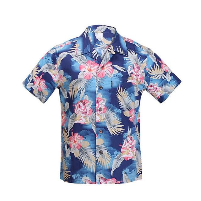 42e6c5208d 2019 nuevo algodón de manga corta camisa hawaiana hombres tamaño de turismo  de playa de Hawaii