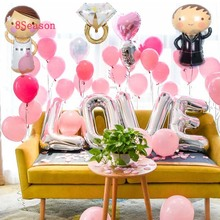 8Season Diamond Love Foil Balloon Wedding Decoration Rose Gold For Party Dress Bridal To Be Engagement Baloon